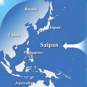 塞班岛地理位置图.