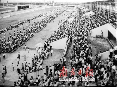 1994年,广州赛马场每逢赛马日都人头涌动.-广州赛马谢幕背后故事