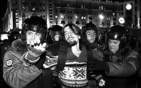 俄爆发大示威 军队开进莫斯科